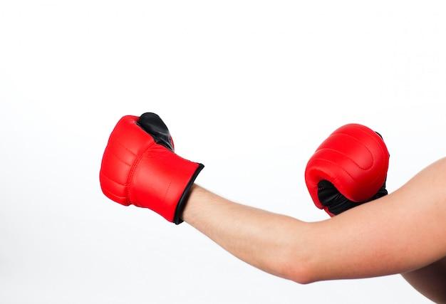 Человек в боксерской борьбе