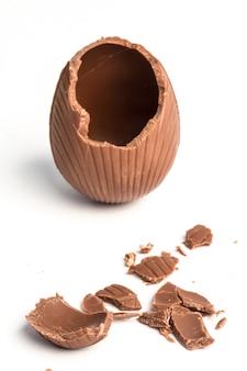 Сломанное шоколадное пасхальное яйцо
