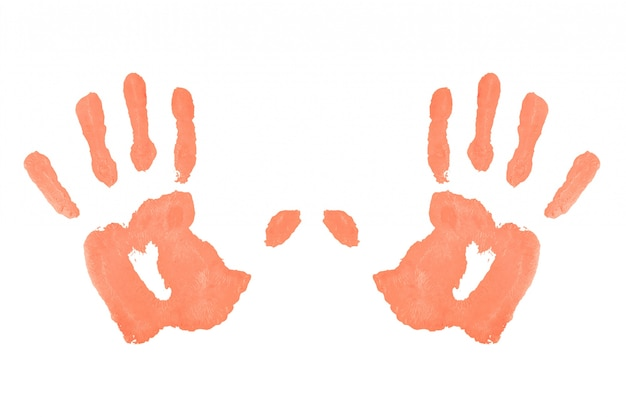Две красные симметричные отпечатки