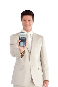 かわいいビジネスマン電卓を表示