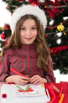 Праздничный рисунок маленькой девочки
