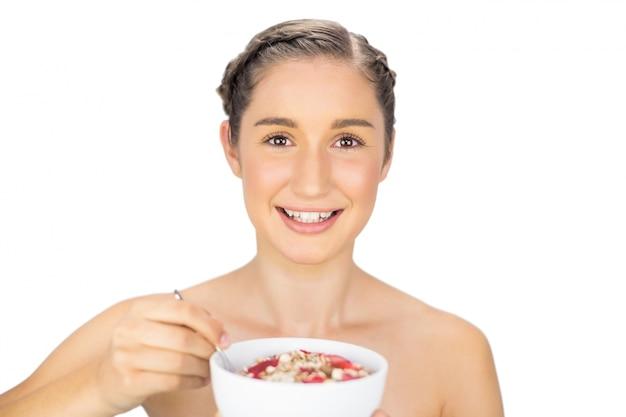 健康的なモデル、穀物