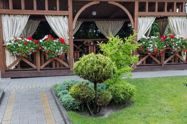 景観デザイン要素。英語の裏庭。