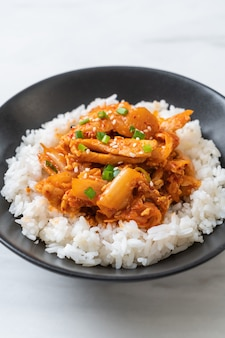 豚肉のキムチ炒めご飯