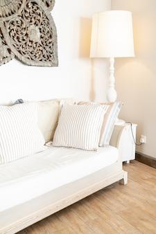 ソファーチェアの快適な枕