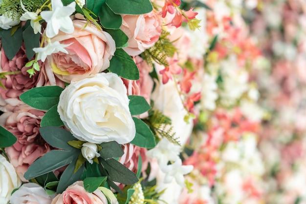 Красивый букет цветов с копией пространства для фона