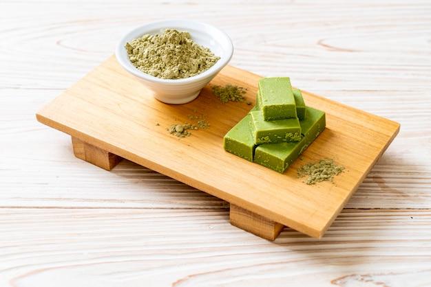 Свежий и мягкий маття зеленый чай шоколад