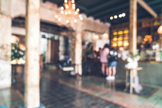 抽象的なぼかしの背景のビンテージカフェレストラン