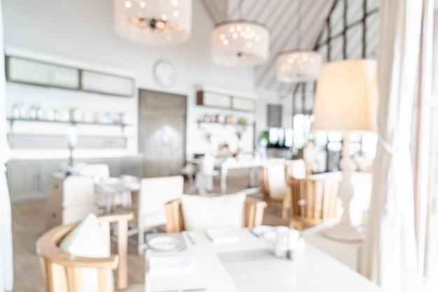 抽象的なぼかしと背景の多重ホテルレストラン