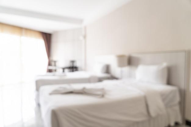 抽象的なぼかしと寝室のインテリアにデフォーカス