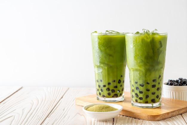 Латте зеленого чая маття с пузырем