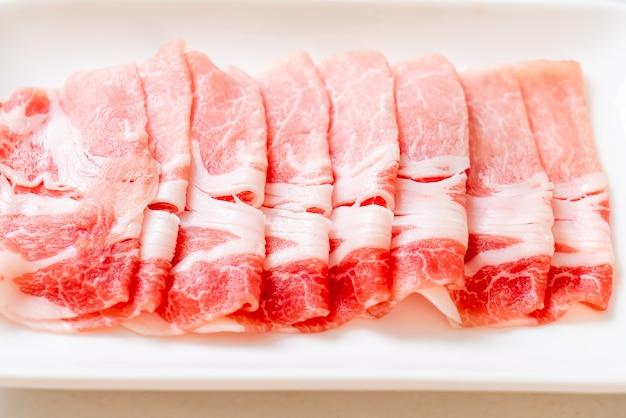 新鮮な生豚サーロインスライス