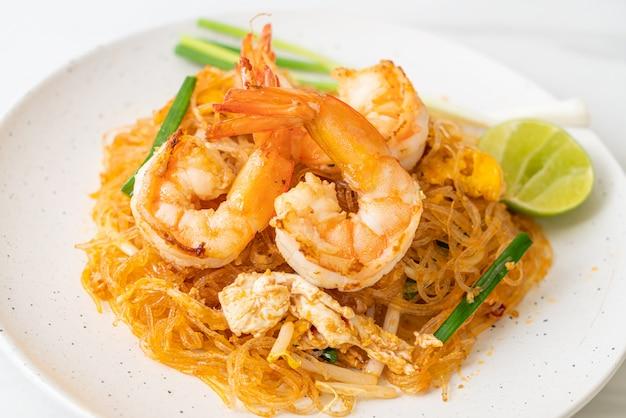 バーミセリパッドタイまたはタイ風春雨のエビ、タイ料理スタイル