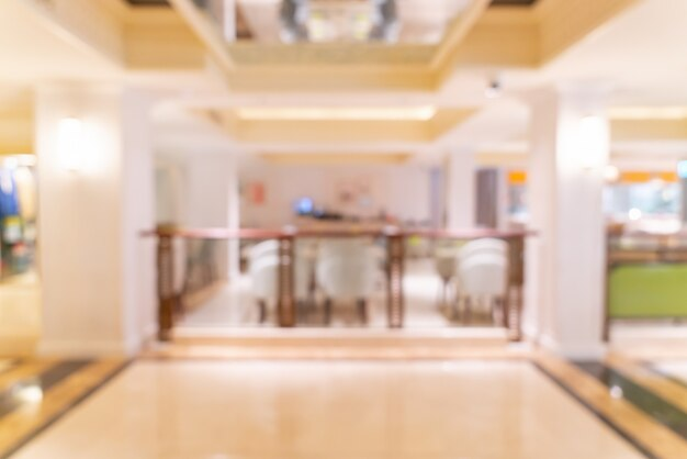 Абстрактный размытие роскошный отель лобби и холл
