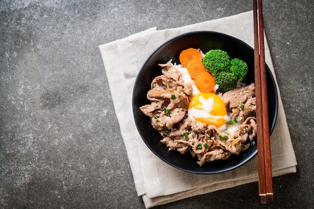 丼・豚丼・温泉玉子・野菜
