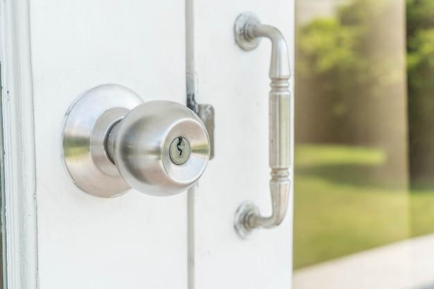 ドアノブまたはアルミニウム製のドア