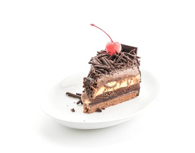 Шоколадный торт с мороженым
