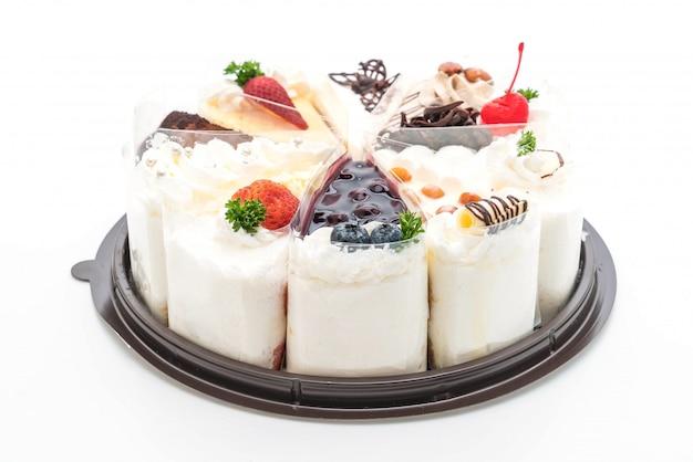 ケーキの異なる部分