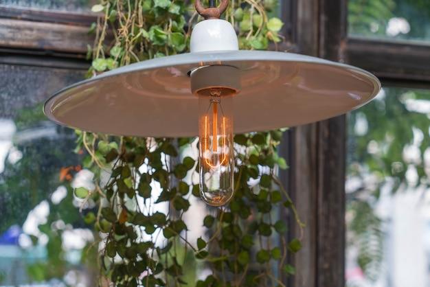 輝く美しい光のランプの装飾