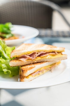 ハムチーズサンドイッチ