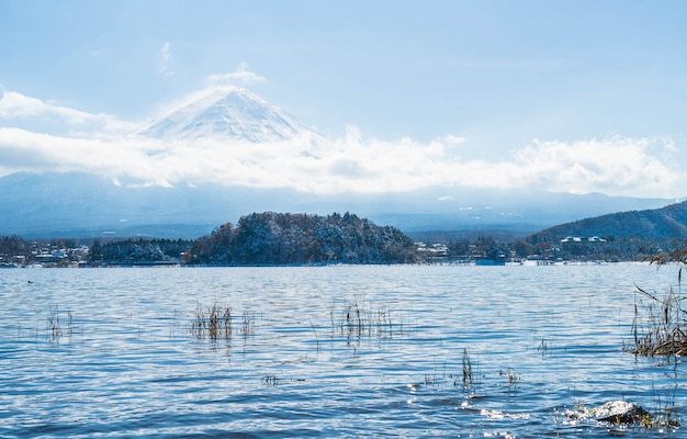 河口湖の山富士山。