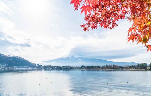 山岳富士山と曇り