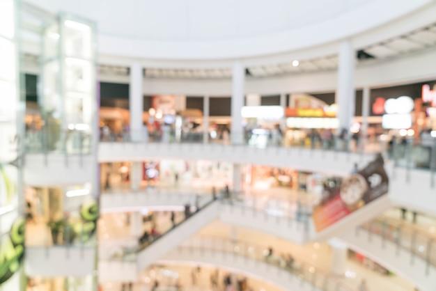 豪華なショッピングモールと小売店での抽象的なぼかし