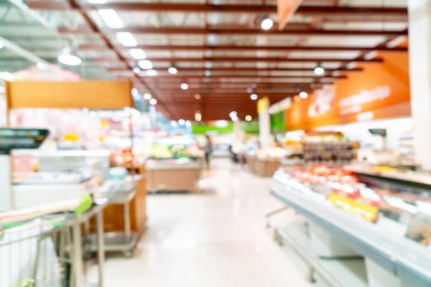 背景のスーパーマーケットで抽象的なぼかし