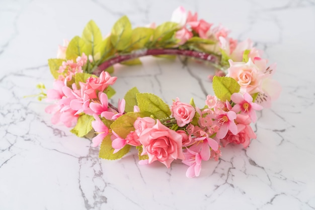 美しい花の冠