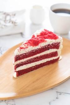 赤いベルベットのケーキ