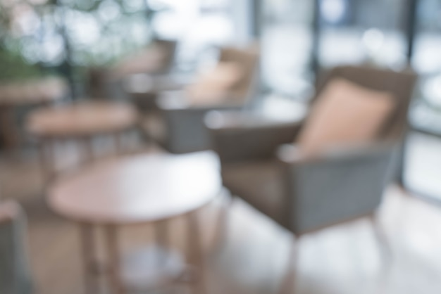 抽象的なぼかし空の椅子のカフェで '