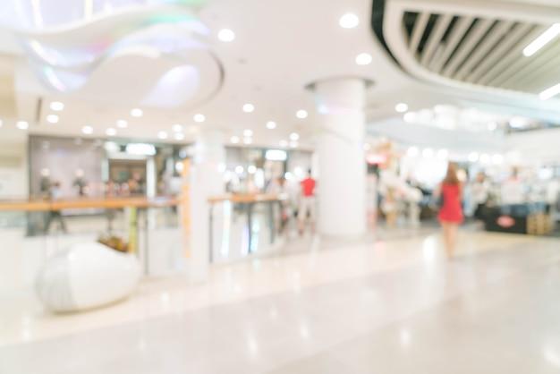高級ショッピングモールや小売店で抽象的なぼかし