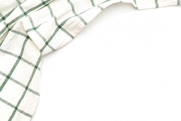 キッチンクロス(ナプキン)白で分離