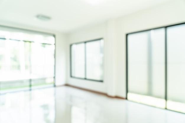 抽象的なぼかしの窓と家の中で空の部屋