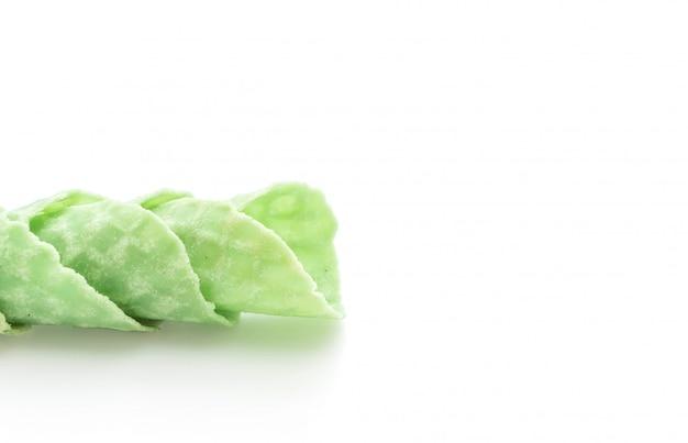 Вафельный рожок зеленого чая
