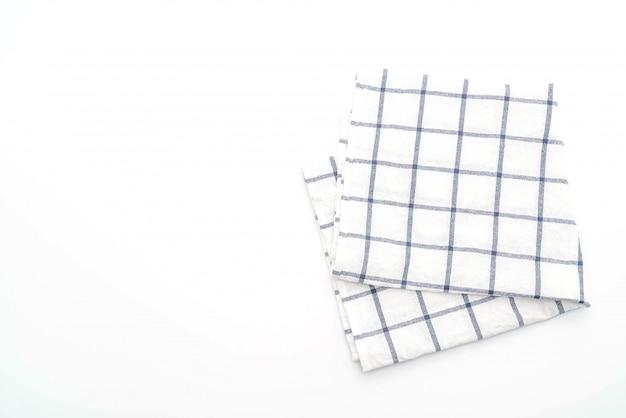 白い背景の上の台所布(ナプキン)