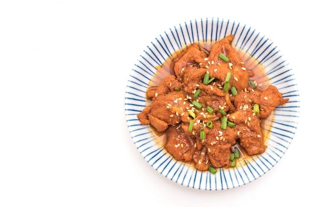 豚肉のピリ辛韓国風ソース(ブルゴギ)