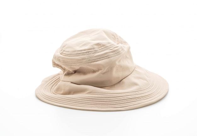 白い背景の上の帽子