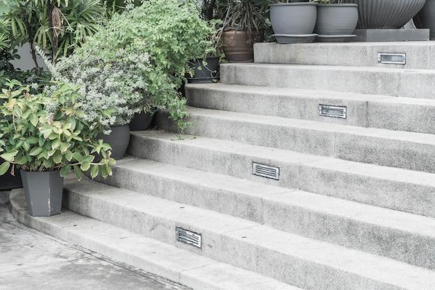 空の石の階段