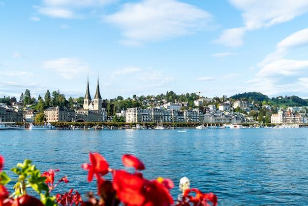 Городской пейзаж люцерна в швейцарии