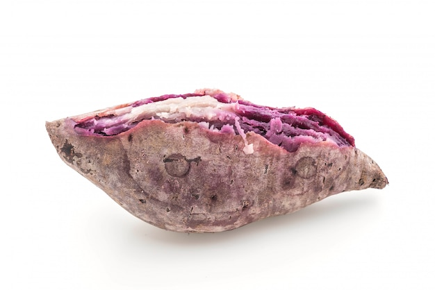 分離された紫色のサツマイモ