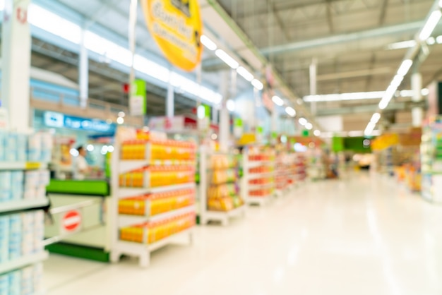 スーパーマーケットで抽象的なぼかし