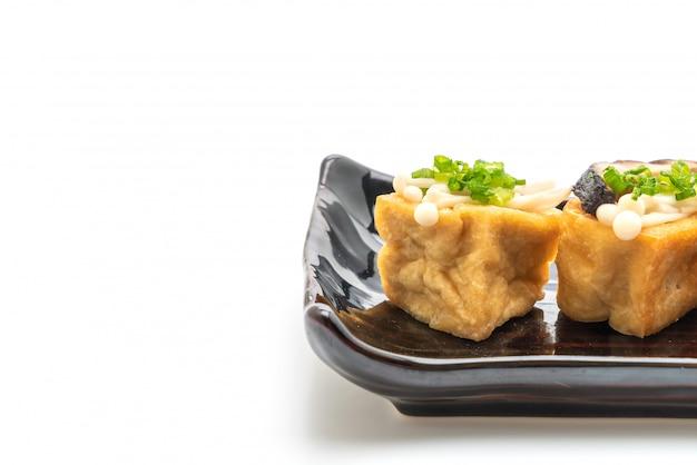 しいたけと金針きのこの豆腐焼き