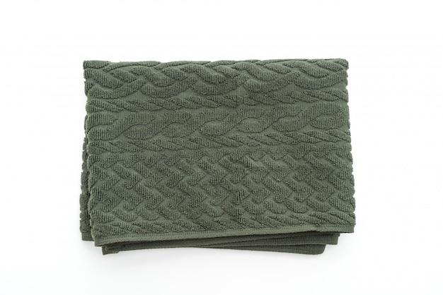 白地に緑のタオル