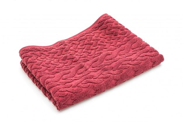 白地に赤いタオル