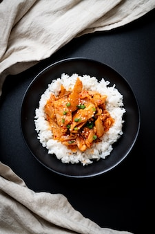 キムチ炒め豚肉の炒め