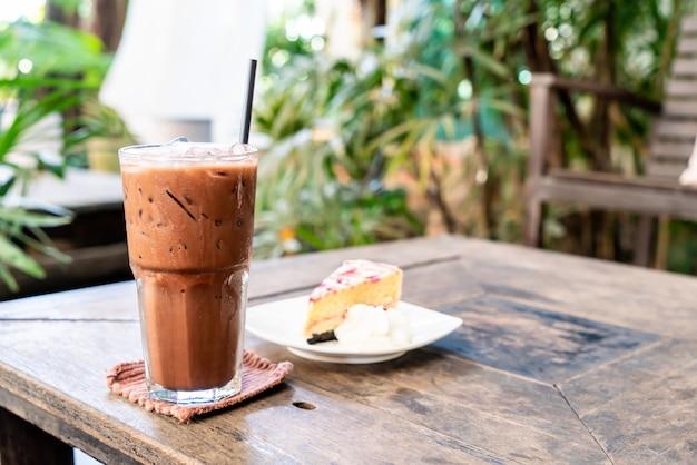 アイスチョコレートミルクセーキグラス