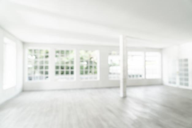 抽象的なぼかしガラス窓と空の部屋