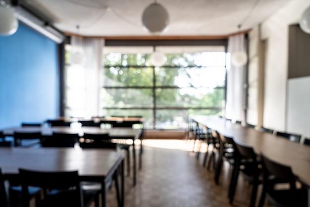 抽象的なぼかしとホテルのレストランでデフォーカス
