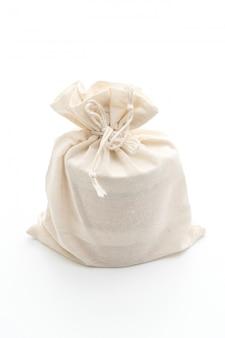 Белая тканевая сумка